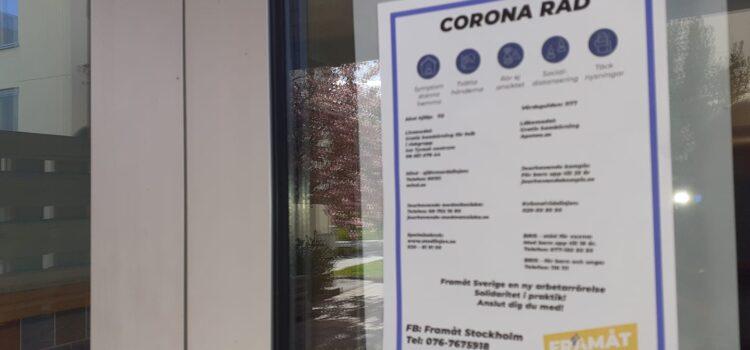 Coronaråd spridda i Tyresö