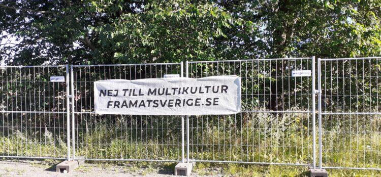 Protest mot nya modulhus i Haninge