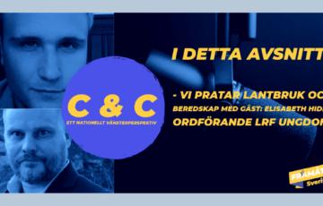 C & C podd – Vi pratar lantbruk och beredskap med gäst: Elisabeth Hidén ordförande LRF Ungdom.